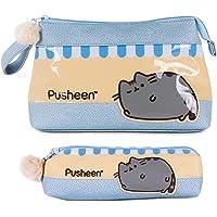 Kulturtasche Damen Set 2 Kosmetiktasche Klein Pusheen The Cat - Kosmetiktasche groß für Reise Zubehör & Mäppchen Mädchen…