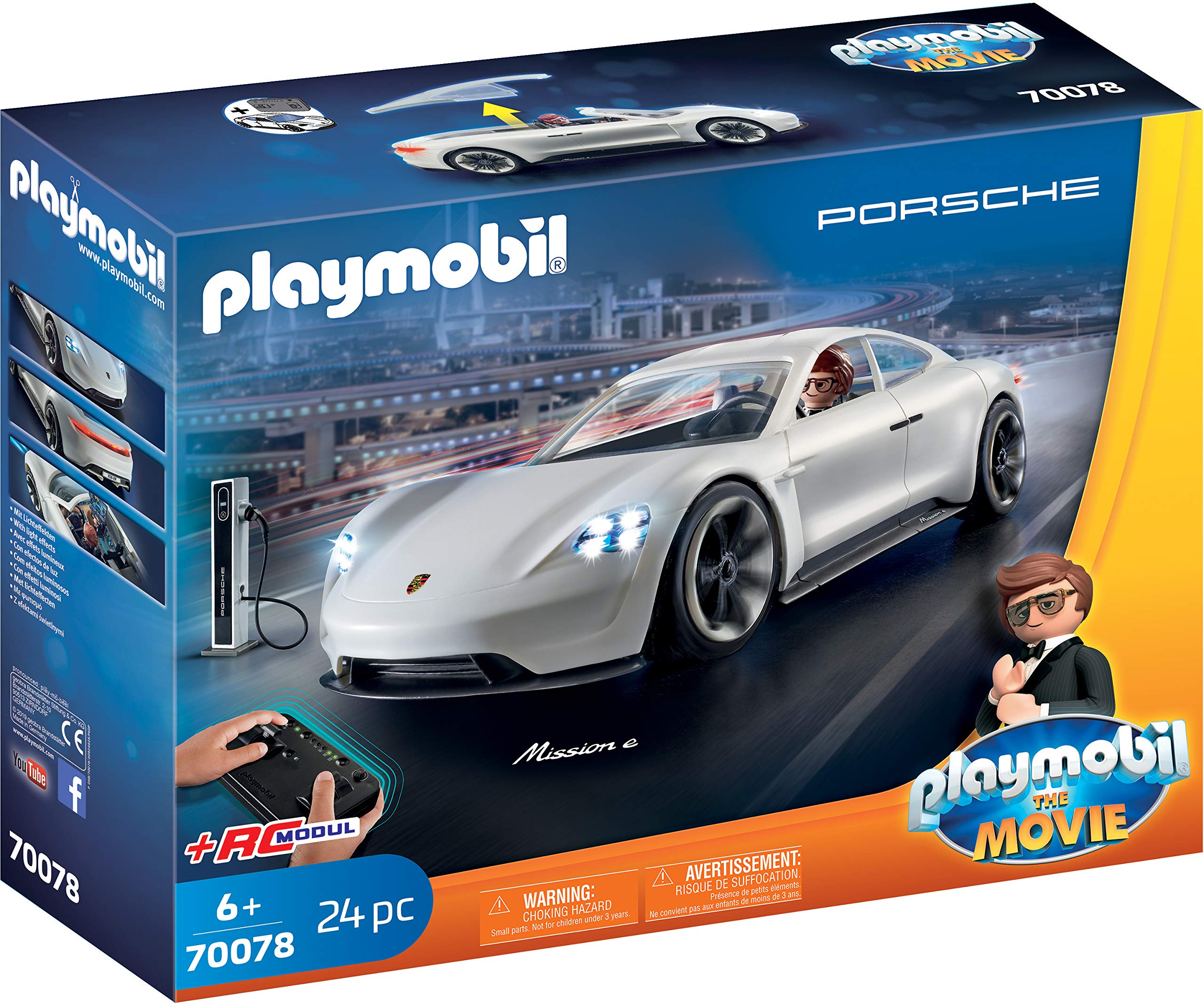 Playmobil-THE-MOVIE-Porsche-Mission-E-y-Rex-Dasher-70078