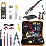Saldatore Elettrico Stagno Professionale Kit-28 in 1 di Saldatura con Valigetta per trasporto-60w 220v Saldatore Temperatura