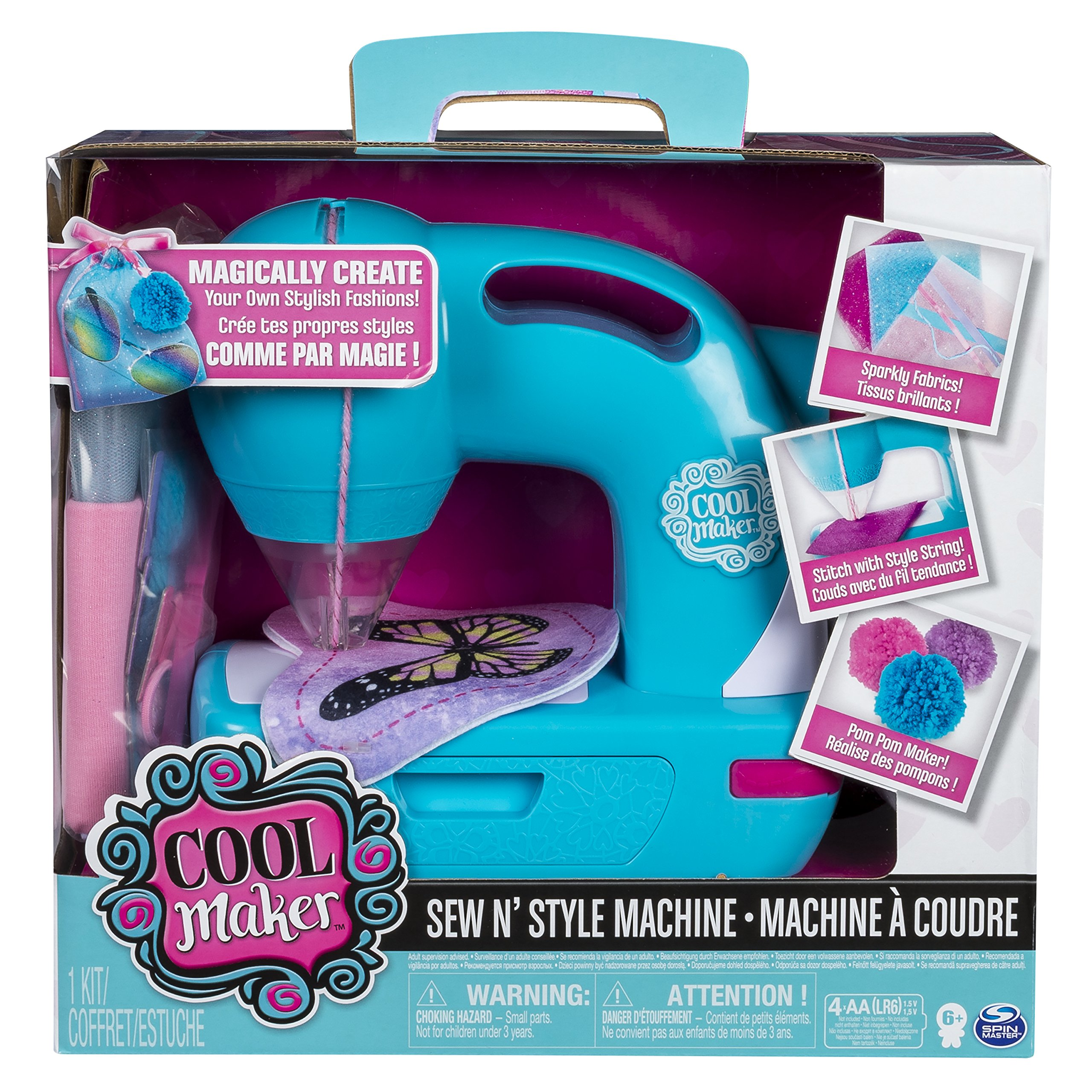 Sew Cool 6037849 N Style Craft Kit Girls Sewing Machine Creative Projects