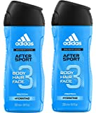 adidas After Sport Hair und Showergel, 2er Pack (2 x 250 ml)