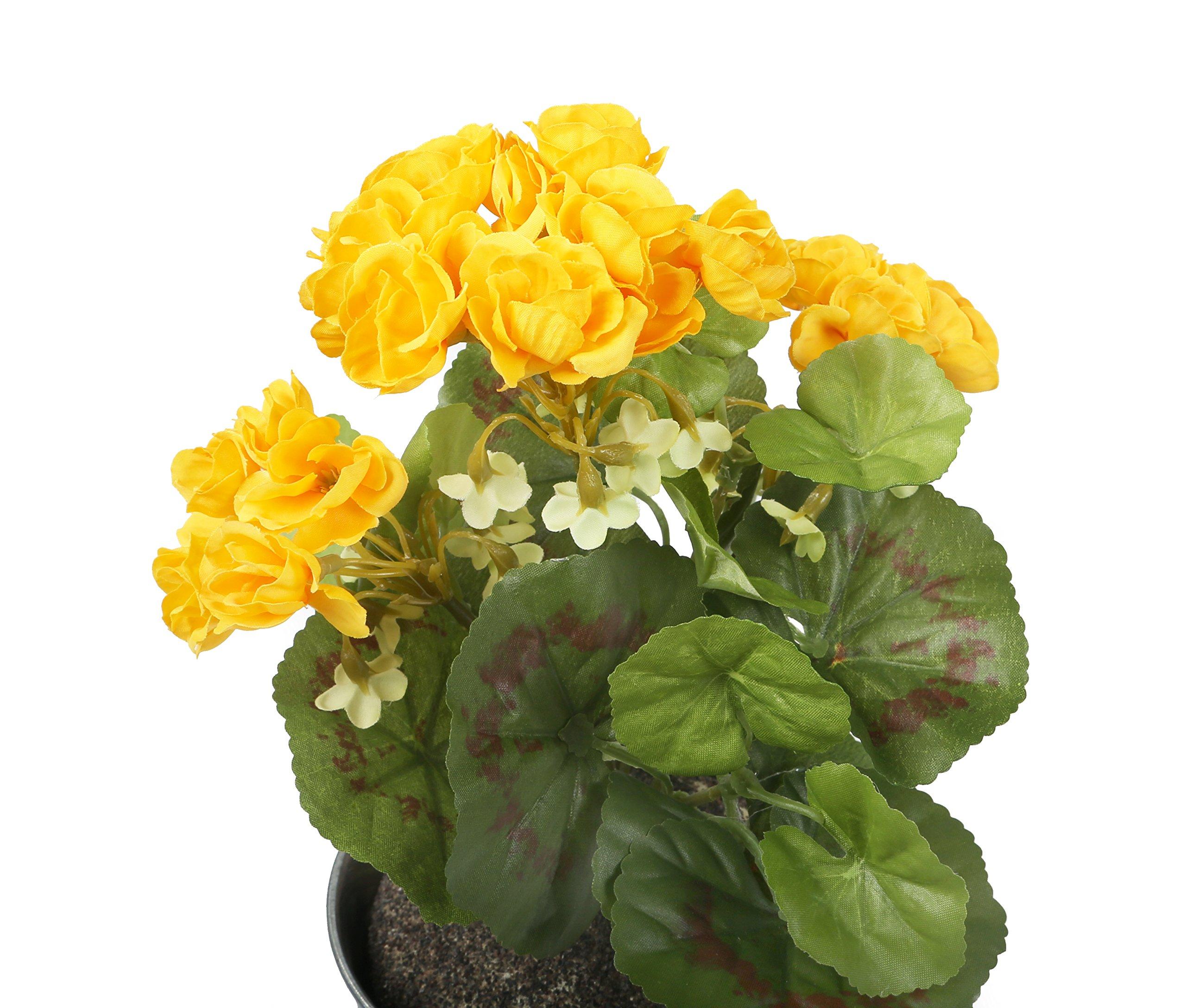 Closer To Nature HBC008YE – Geranio zonal artificial, 24 cm, color amarillo