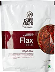 Pure & Sure Organic Flax Seeds, 150g