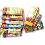 PG LOOKS BEAUTIFUL Handcrafted Bag Shaped Blouse Piece with Haldi-Kumkum Packs (10)