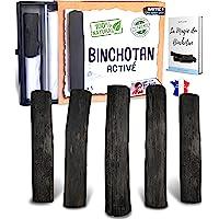 baytiz | Filtre à Eau Végétal au Charbon Actif - Baton de Binchotan Bio x5 - Purifier l' Eau du Robinet - en Bois…