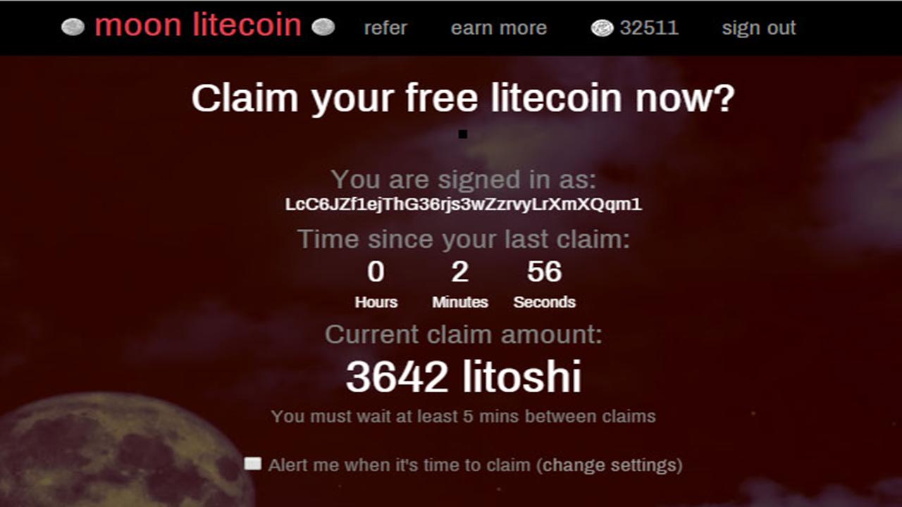 Litecoin Free Moon Faucet - 5