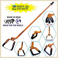 MAHAN HH-1.6 MANUAL WEEDER / HAND WEEDER WITH 4.3 FT LONG HANDLES AND 6 INCH HOES