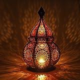 Gadgy ® Farol Arabe (36 cm) l para Velas y Luces eléctricas l Interior y Exterior Decoración l Resistente al Viento l Estilo