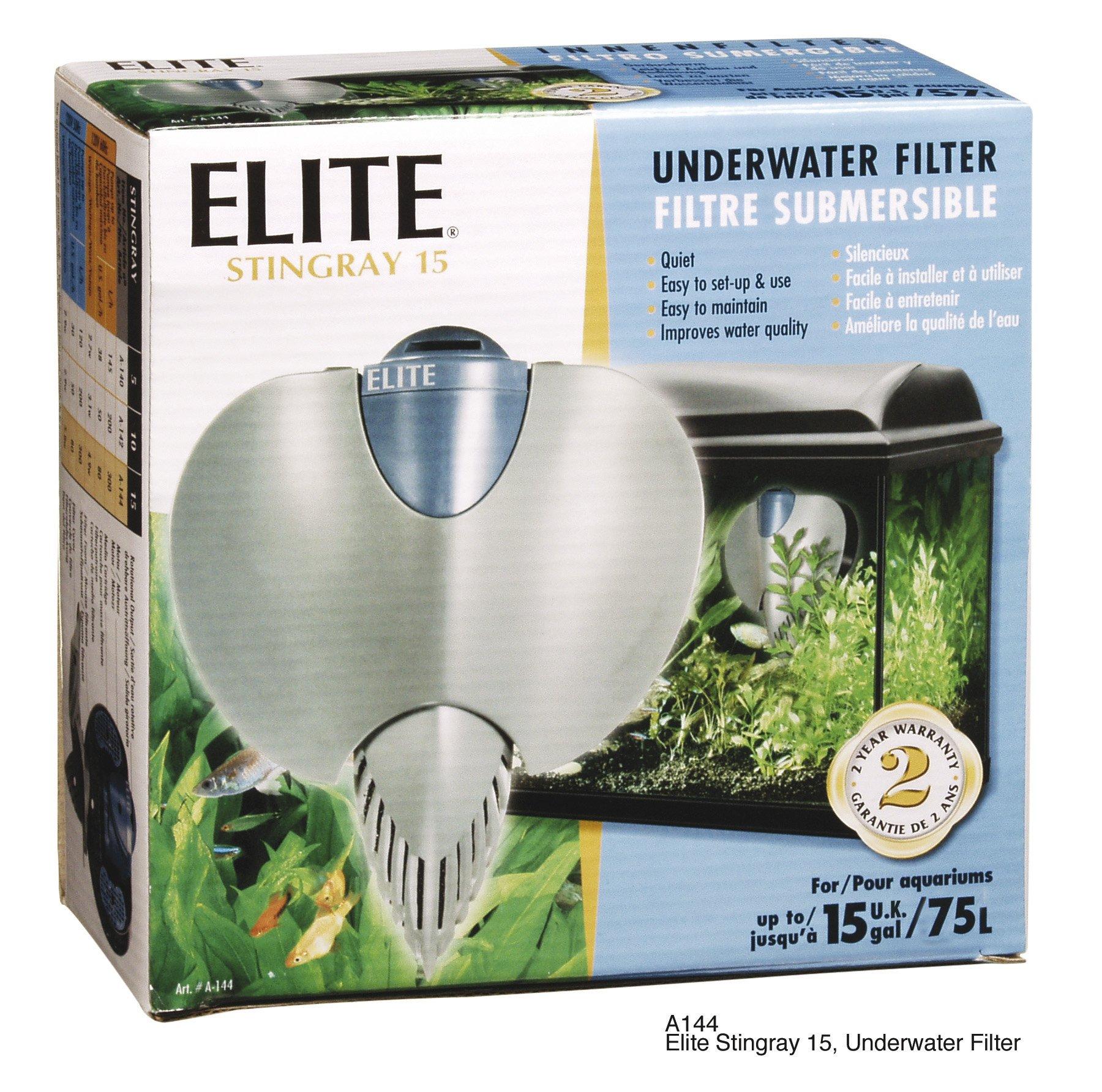 Hagen Elite Stingray 15 Underwater Aquarium Filter