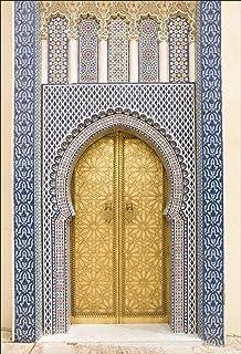 83x204cm Papier peint porte d/éco Art D/éco Stickers vieille porte orientale Dimensions