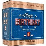 Cadeau Cafe Anniversaire pour Homme & Femme - Coffret de Dégustation Gourmand avec 5 des Meilleurs Moulu Cafés Bio au Monde |