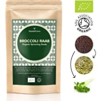 SEEDELICIOUS Organic Broccoli RAAB Sprouting Seeds 1kg | Healthy Superfood | Easy to Sprout in 4 Days| High Germination into Microgreens in 10 Days