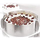 Cercle à tarte – Des créations de tartes magiques pour toutes les occasions – Cercle pâtisserie en inox réglable et fixable p
