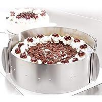 Cercle à tarte – Des créations de tartes magiques pour toutes les occasions – Cercle pâtisserie en inox réglable et…
