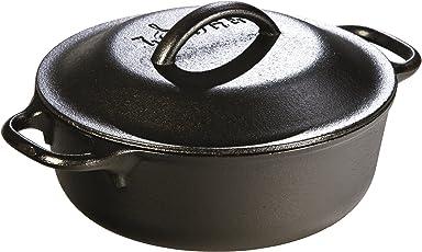 Lodge L2SP3 Pre-Seasoned Cast-Iron Serving Pot, 2-Quart