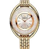 swarovski Crystalline Oval Rose Gold Tone Braccialetto Watch