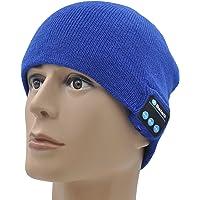 XIKEZAN - Berretto unisex lavorato a maglia, con Bluetooth V4.2, con altoparlanti stereo integrati