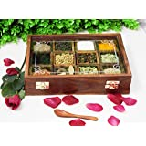 CRAFTCASTLE Wood Spice Box/Container - 1 Piece, Brown