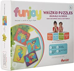 Funjoy Animals and Birds - Dino, Sea Horse, Snail and Butterfly
