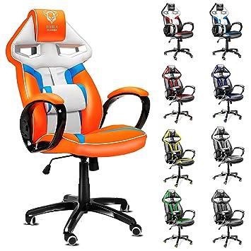 racing seat office chair uk. diablo x-gamer gaming chair, computer seat, office chair,ergonomic racing bucket executive chair (white-blue-orange): seat uk