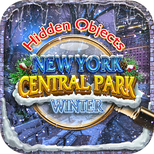 Hidden Object New York City Central Park Winter Holiday - Snow Gardens Objects Time Puzzle Photo Pic Game and Spot the Difference