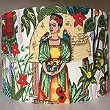 Handmade Lampshade Tropical Print Mexican Artist
