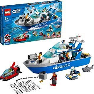 LEGO Police Patrol Boat Building Blocks for 5 Years and Above