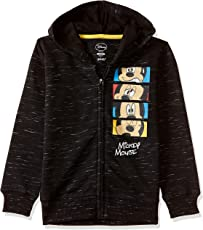 Mickey & Friends Kids Boys Black & White Color Sweatshirt