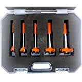 Jon Bhandari Tools Hinge Boring Forstner Drill Bit Set (New & Improved) Carbide Tipped for Wood and Plywood (Sizes: 15, 20, 2