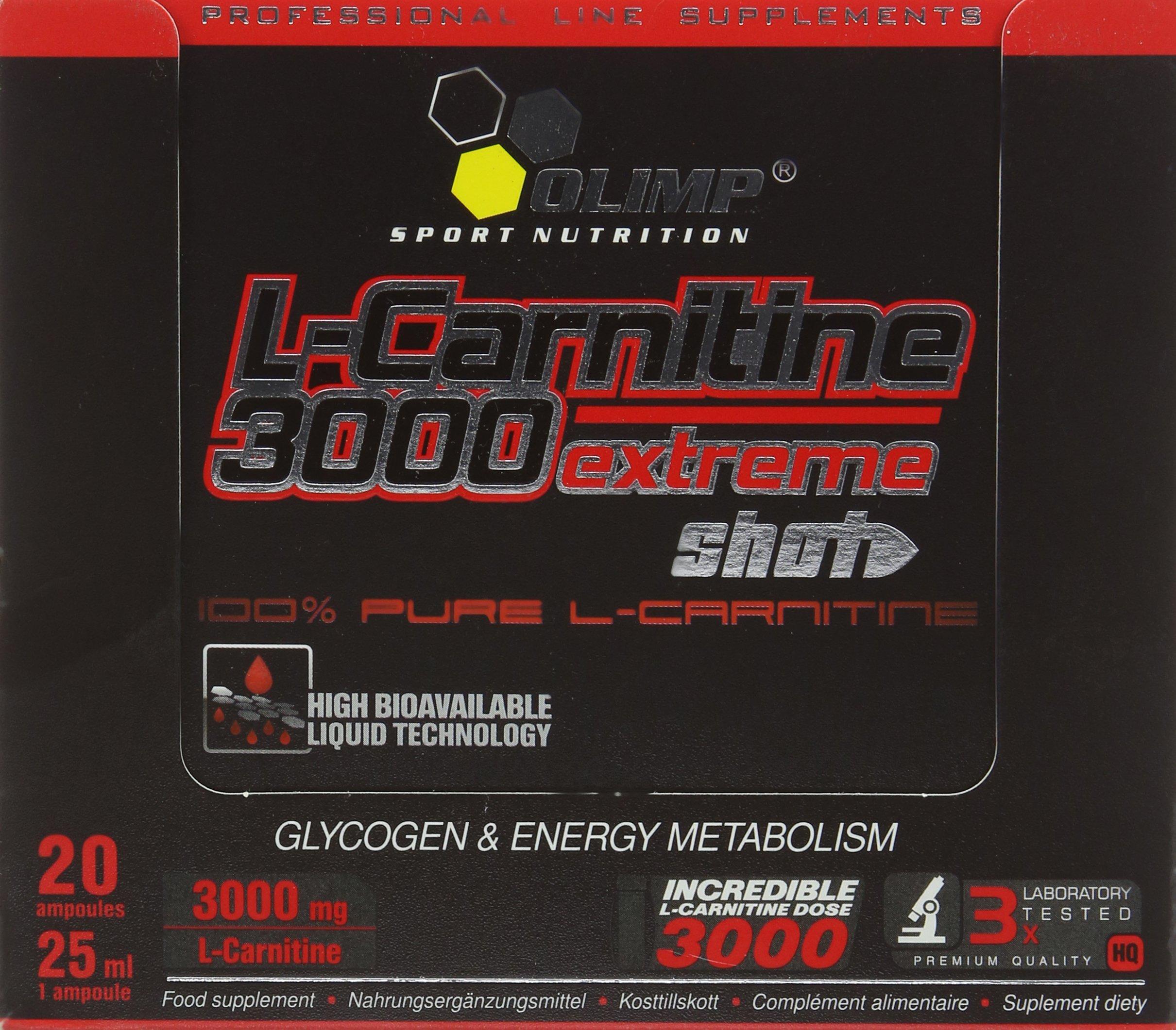 91JtfV9OcGL - Olimp Orange 25ml L-Carnitine Forte 3000 Extreme Shot - Pack of 20 Shots