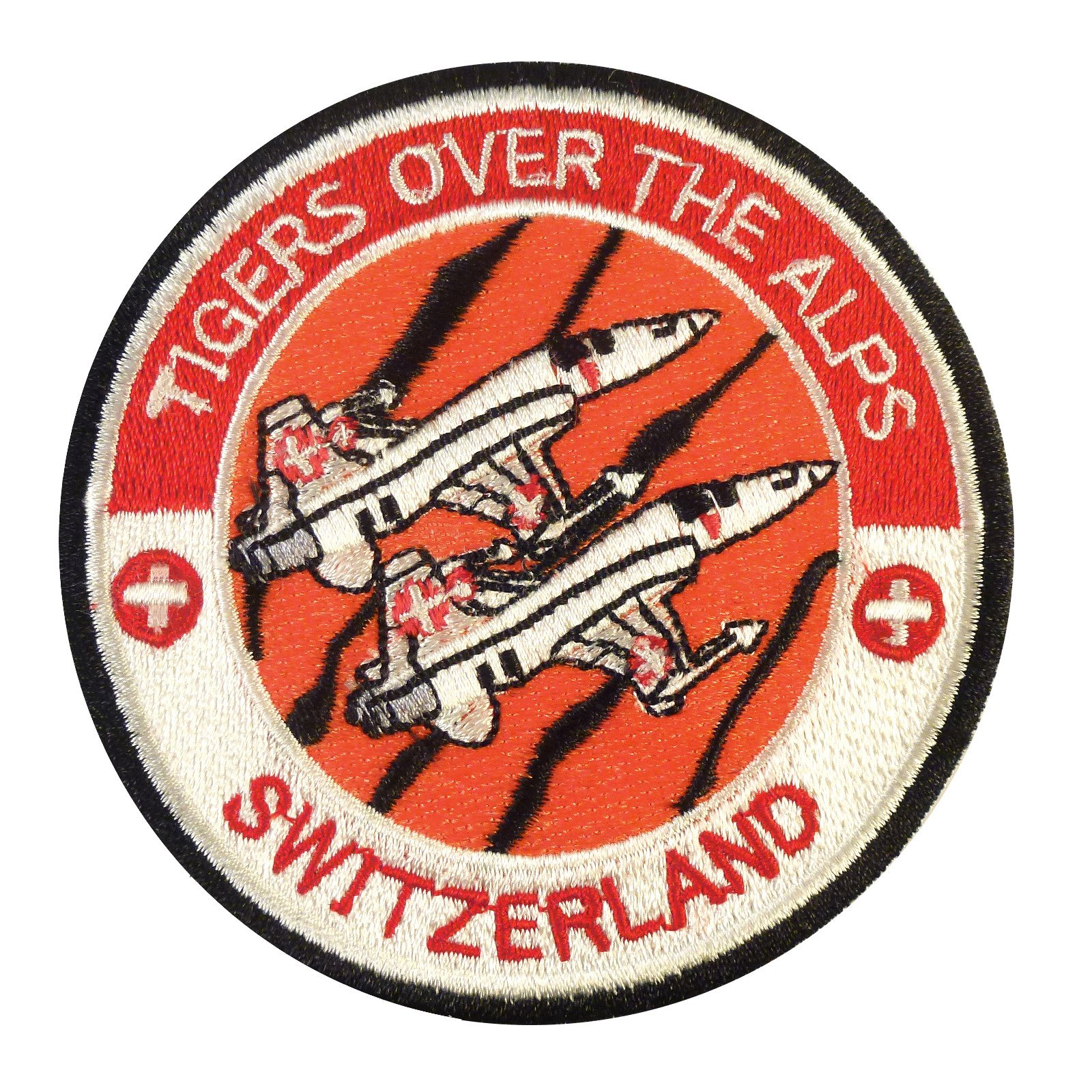Swiss Air Forces Tigers Over the Alps Northrop F-5 Tiger Sew Termoadesiva Toppa Patch