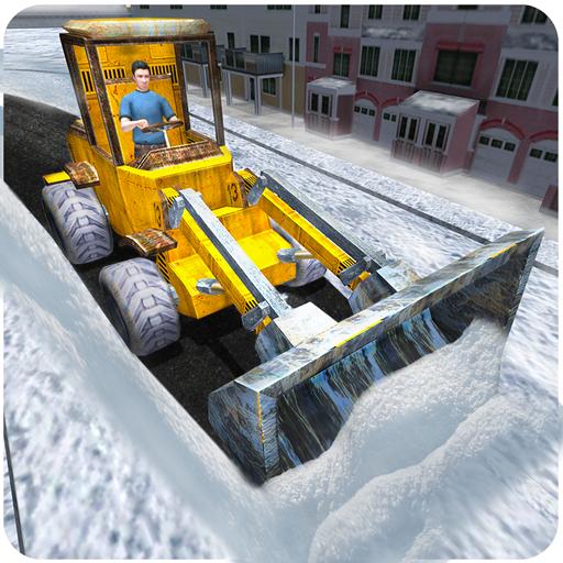 Schneerettungs Bagger Kran 3D - Graben Und Lkw, Dump