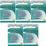 Eunicell CR2477 - Pilas de botón (litio, 5 unidades, 3 V, 1050 mAh, 5 blíster)