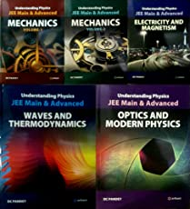 COMBO SET OF 5 BOOKS FOR UNDERSTANDING PHYSICS (MECHANICS VOL, 1 AND 2 / ELECTRICITY AND MAGNETISM / OPTICS AND MMODERN PHYSICS / WAVES AND THERMODYNAMICS BY DC PANDEY