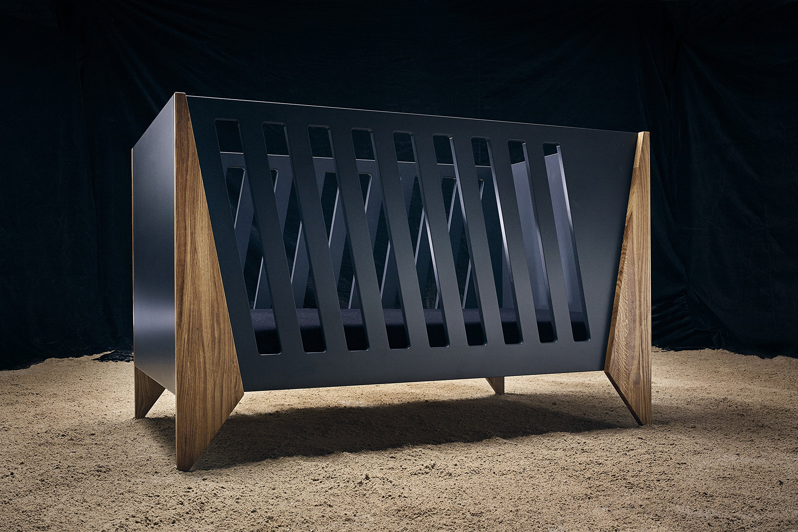 Nursery Cot (Black)  Made from high quality materials Mattress included Unique Scandinavian design 1