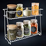Plantex Stainless Steel Multipurpose 2-Tier Kitchen Rack/Storage Shelf/Spice Jar Rack/Storage Rack for Kitchen (Chrome)