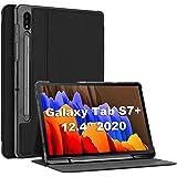 """ProCase Funda para Galaxy Tab S7 Plus 12.4"""" 2020 SM-T970 T975 T976 T978 con Soporte para S Pen, Estuche Folio Delgado para Ga"""