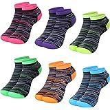 L&K Pack de 6/12 Calcetines Sneaker Cortos de Deporte para Mujer Multicolor 92201VA