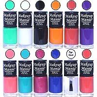 Makeup Mania Nail Polish Set of 12 Pcs, Multicolor-93 (Combo Of 12)