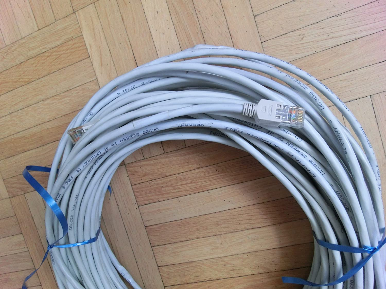 Netzwerkkabel RJ45 Stecker, 20m: Amazon.de: Computer & Zubehör