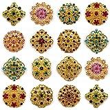 12 piezas MIX doradas con una tira de brillantes diamantes de imitación PIN broche con forma de Direct Hardware JOBLOT Suite