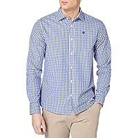 NORTH SAILS Camicia da Uomo con Motivo a Quadri - 100% Cotone - vestibilità Regolare con Colletto Classico, Logo…