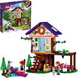 LEGO Friends La Baita nel Bosco, Casa sull'Albero Giocattolo, Costruzioni per Bambini di 6 Anni con 2 Mini Bamboline, 41679