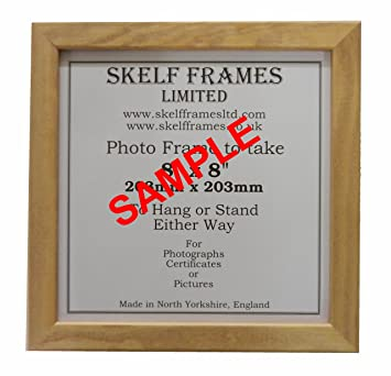 beech style wood square picture photo frame 9x9 amazoncouk kitchen home