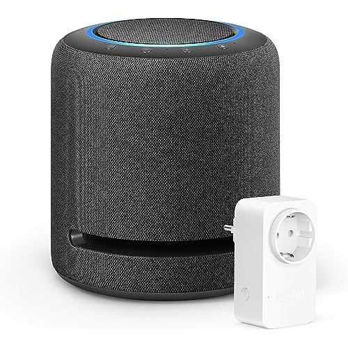 Echo Studio +Amazon Smart Plug (presa intelligente con connettività Wi-Fi), compatibile con Alexa
