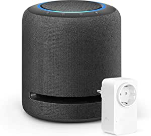 Echo Studio + Amazon Smart Plug (presa intelligente con connettività Wi-Fi), compatibile con Alexa