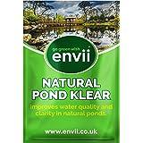Envii Natural Pond Klear – Limpiador Natural Estanques Elimina Agua Verde y Tratamiento para Limpiar Algas Verdes (Trata 25.0