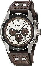 Fossil Herren Armbanduhr wasserdicht Coachman/Lederband Uhr mit Chronographen-Funktion, Datumsanzeige & Tachymeter