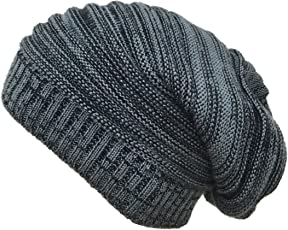 Gajraj Unisex Textured Slouchy Beanie Cap
