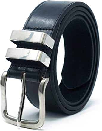 Ossi 38mm Belt with Double Loop for Men in Black, Brown or Tan